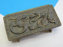Lot 194: Japanese Lidded, Footed, and Divided Dragon Trinket Box