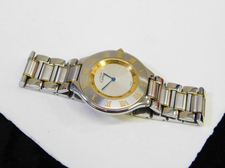 Vintage Must De Cartier Mens Wrist Watch