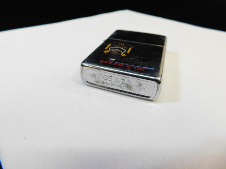 Lot 7: Zippo United States Ship Uss Kirk Ff-1087 Lighter
