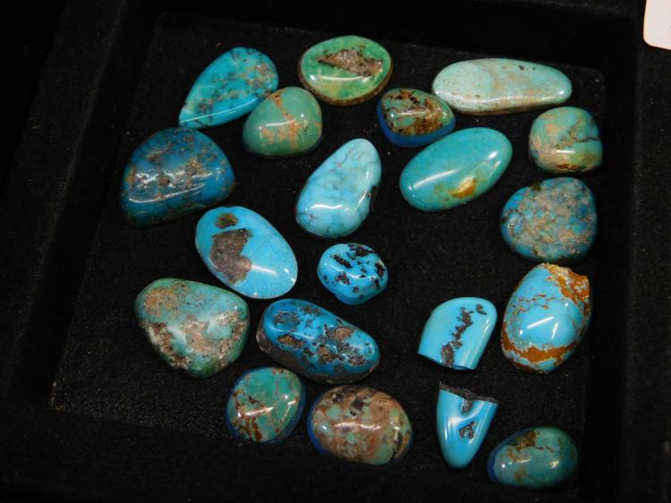 134 Ct Lot Of Mixed Turquoise Cabachons For Jewelry Making