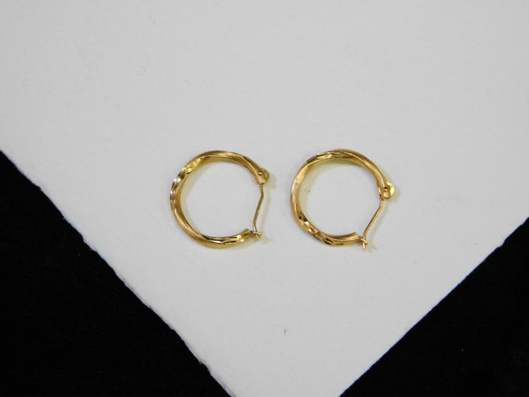Vintage 14 Karat Gold Hoop Earrings