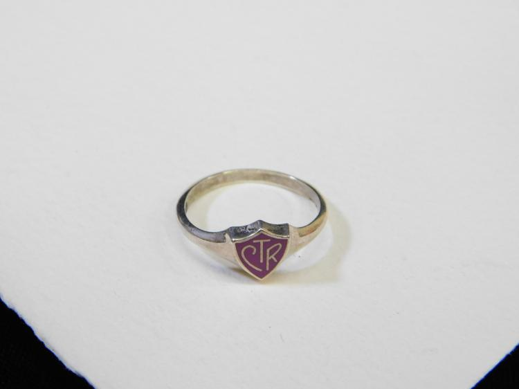 Vintage Church Of Jesus Choose The Right Ctr Shield Ring Size 8