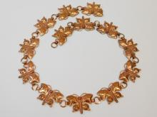 Lot 97: Vintage Southwestern Copper-Colored Butterfly Concho Belt