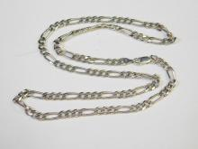 Lot 114: Vintage Mexico Sterling Silver Figero 21 Inch Chain Necklace 18.4G