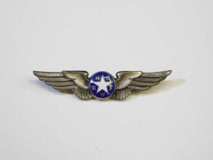 Vintage Military Amoco Sterling National Association Air Force Women Pilots Wings Pin Brooch