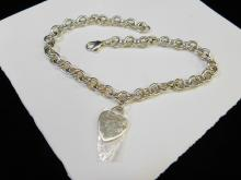 Lot 163: New Tiffany & Co Sterling Silverlarge Link Choker Necklace 67.9G