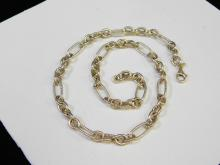 Lot 169: 38.8G Modern Sterling Silver Large Link 18 Inch Fashion Necklace