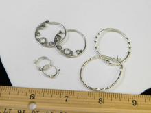Lot 182: Lot Of 3 Pair Sterling Silver Hoop Earrings In Various Sizes 6.5