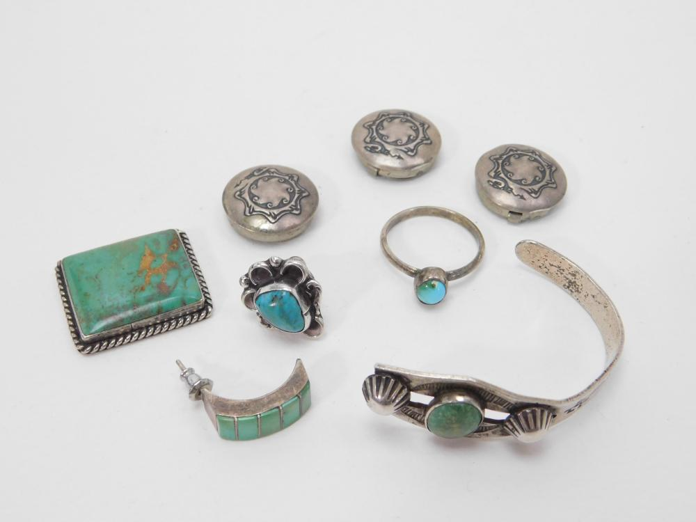 Vintage Native American Sterling Silver Jewelry For Scrap Or Repair 33G
