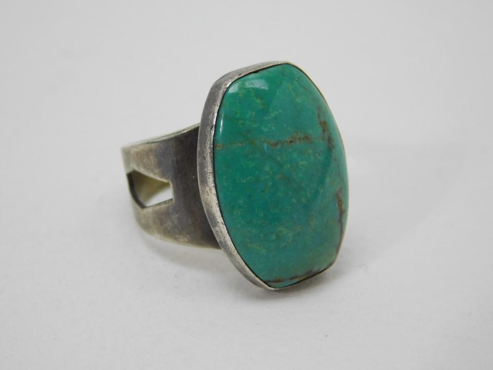 Dtr Desert Rose Trading Jay King Mine Finds Sterling Turquoise Ring 8G Sz6