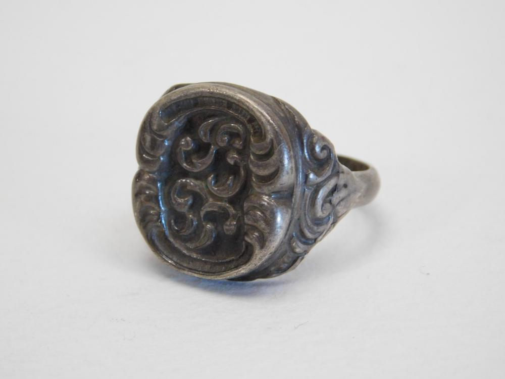Vintage Sterling Silver Wax Stamp Seal Ring 10G Sz11