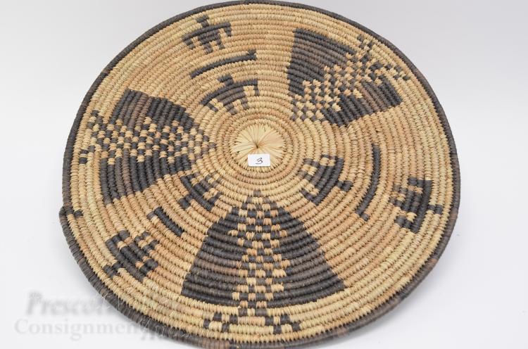 African Hand Woven Platter Basket