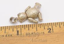 Lot 8: 8.1 Gram Sterling Silver Articulated Teddy Bear Pendant