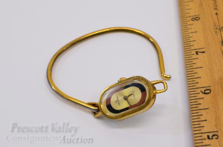 Lot 17: Vintage Helbros 17 Jewel Gold Tone Manual Wind Ladys Wrist Watch