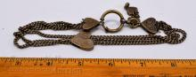 """Lot 29: Vintage Nickel Silver Multi Strand Etched Heart 13"""" Choker Necklace"""