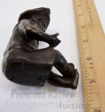 Lot 59: Bronze Sculpture of a Boy Holding His Ball
