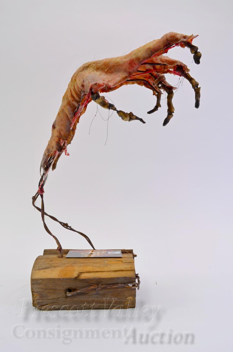 Lot 60: Rob Cobasky Art Studio 918 Skeletal Hand Sculpture