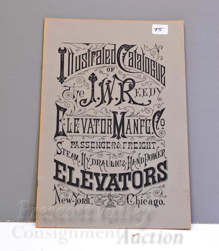Vintage J.W. Reedy Elevator Manufacturing Co Illustrated Catalog