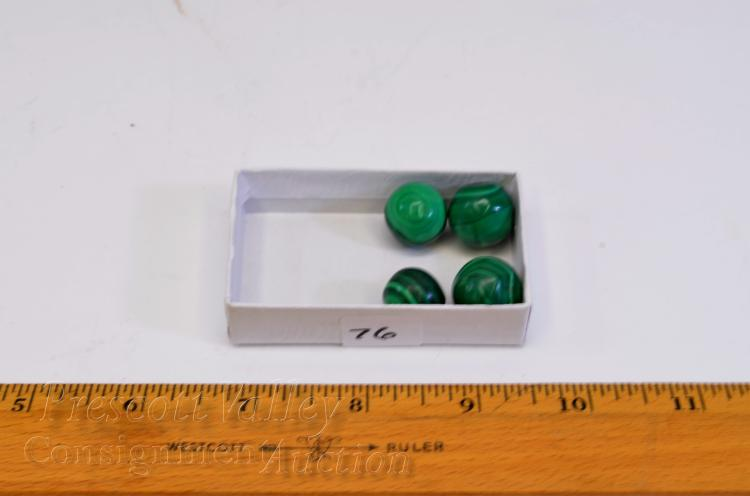 Lot 76: Lot of 4 Polished Malachite Marbles