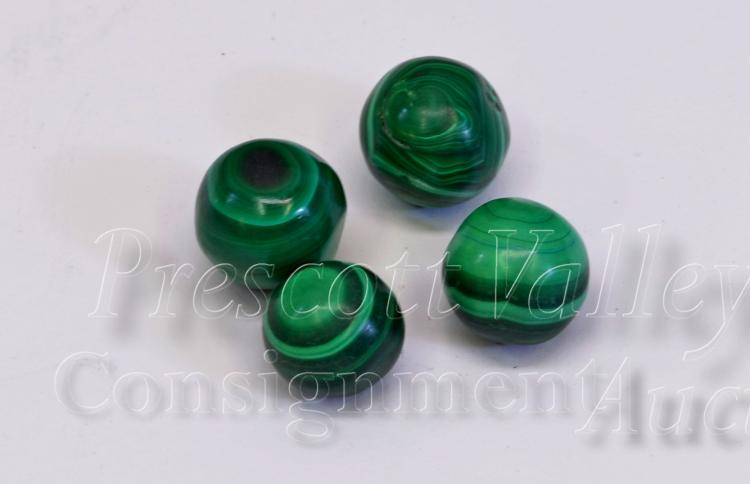 Lot of 4 Polished Malachite Marbles