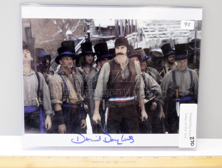 Lot 98: Daniel Day Lewis Signed Gangs of New York Picture with COA