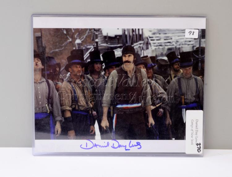 Daniel Day Lewis Signed Gangs of New York Picture with COA