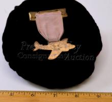 Lot 100: Vintage Greenduck Co 1940 American Legion San Diego Convention Committee Plane Medal on Ribbon
