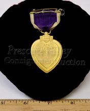 Lot 102: Vintage Purple Heart Military Merit Medal Ribbon Award