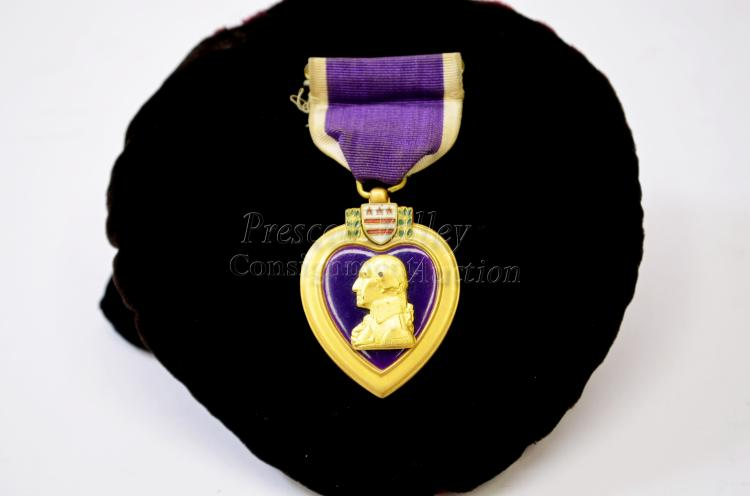 Vintage Purple Heart Military Merit Medal Ribbon Award