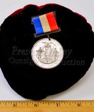 Lot 106: General William T. Sherman 1893 Twenty Seventh Annual Encampment G.A.R. Civil War Veteran Medal