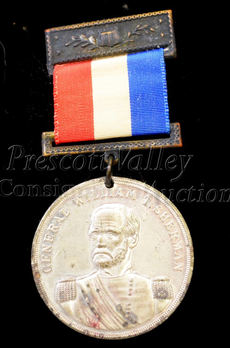 General William T. Sherman 1893 Twenty Seventh Annual Encampment G.A.R. Civil War Veteran Medal