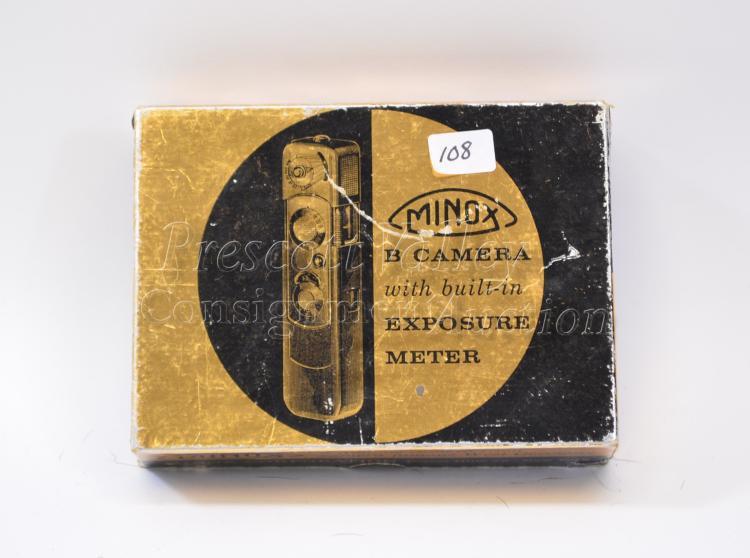 Vintage Minox B Subminiature Black Spy Camera in the Box