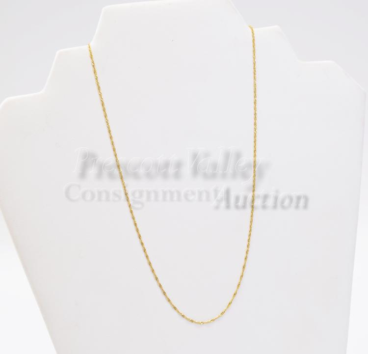 "1.2 Gram 14K Yellow Gold 17.25"" Fine Link Chain Necklace"