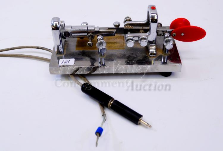 Vintage Vibroplex 45716 Key Ham Radio Telegraph Morse Code Transmitter