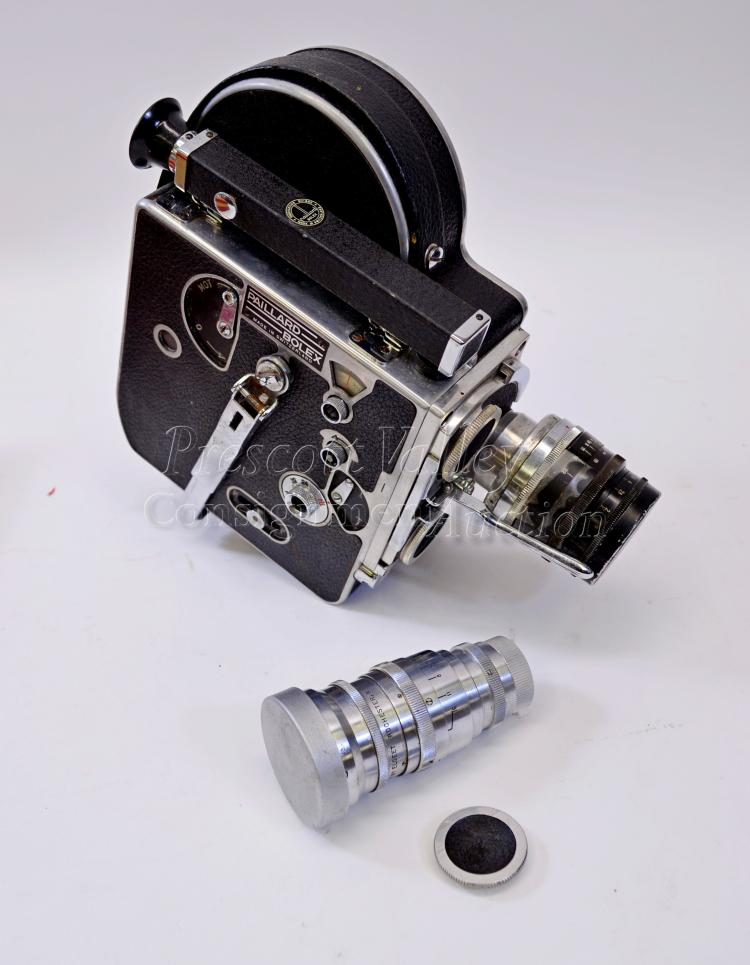 Lot 123: Vintage Paillard Bolex 16mm Film Camera in the Box with Zeiss and Elgeet Lenses