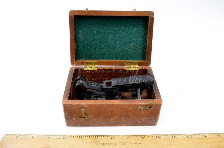 Lot 137: 1943 WWII U.S. Navy BU. Ships Bearing Bar Mark IV Mod. 1 Beck-Lee Corp in Wood Case
