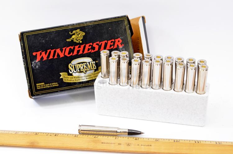 Lot 153: Winchester Supreme Ballistic Silver Tip 30-06 Springfield Box of 20 Rifle Cartridges