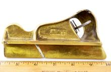 Lot 185: Vintage AMT Brass Carpenters Wood Plane