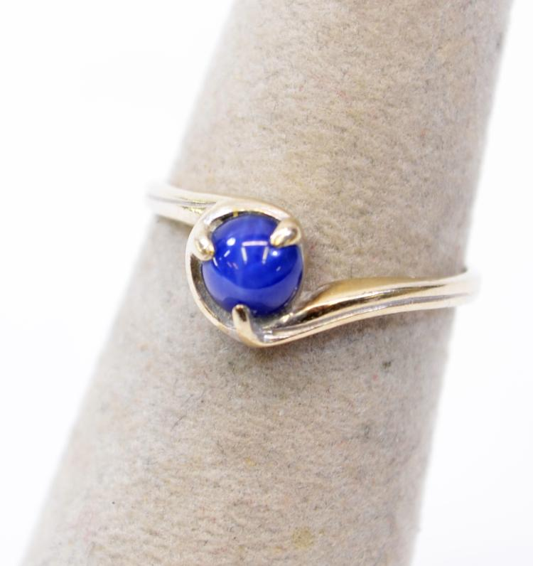 Lot 192: 1.5 Gram 10K White Gold and Star Sapphire Ring Signed SA Sz 5.75