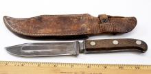 Lot 196: Vintage LF&C Universal Ranger Fixed Blade Knife and Leather Sheath