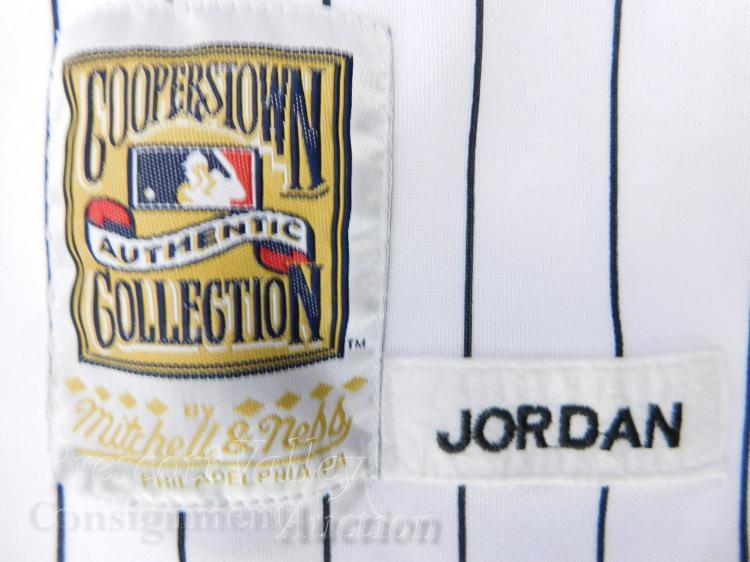 Lot 1: Mitchell & Ness Cooperstown Collection Michael Jordan 45 White Sox Baseball Jersey XL