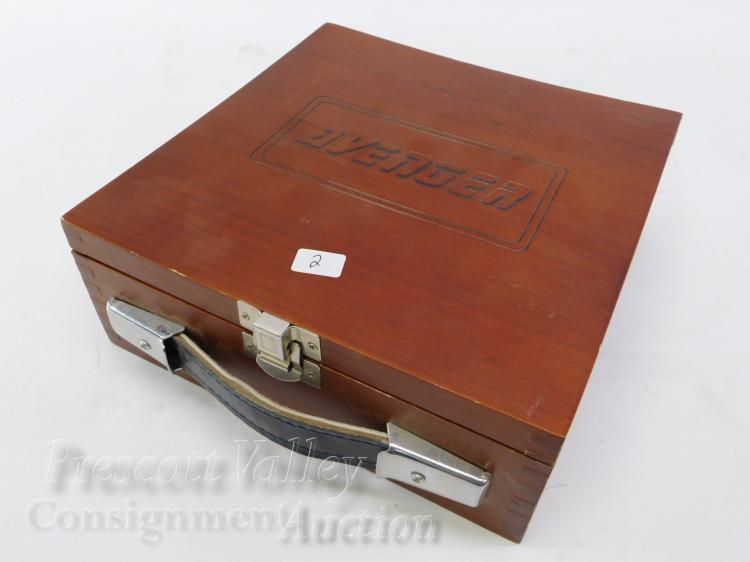 "Lot 2: Avenger Set of 8 Tungsten Carbide Saw Blades in Wooden Case 6"" Dado"