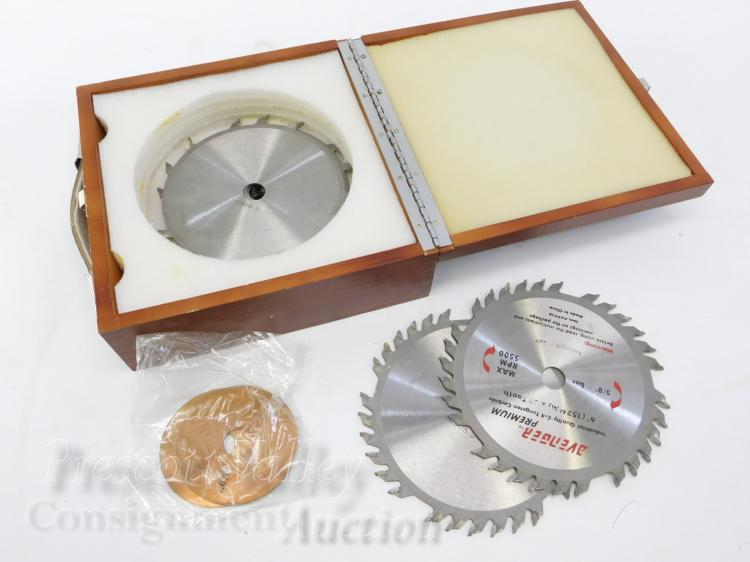"Avenger Set of 8 Tungsten Carbide Saw Blades in Wooden Case 6"" Dado"