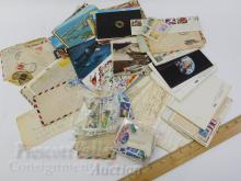 Lot 7: US and Foreign Stamp Collection Including Postcards and Envelopes