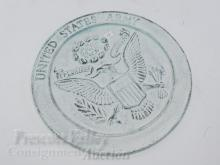 Lot 10: Cast Metal United States Army Wall Hanging Plaque