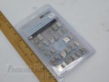 Lot 14: Unused Creative Metal Walnut Hollow 28010 27 Piece Alphabet Stamp Set