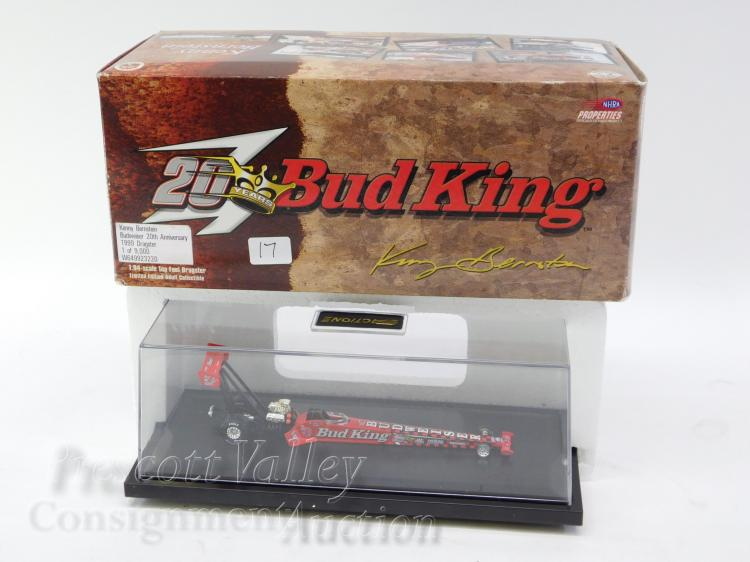 Action 1/64 Scale Kenny Bernstein Budweiser 20th Anniversary Top Fuel Dragster Model in Case