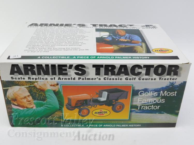 1/12 Scale Model Pennzoil Arnie's Tractor Arnold Palmer Golf Course Collectible in Box
