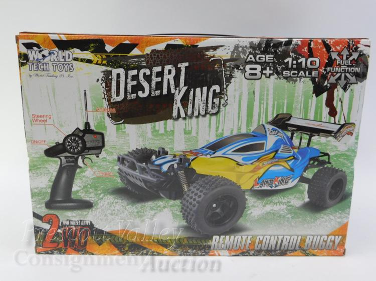 Unused Desert King 1/10 Scale Remote Controlled Buggy Toy Car