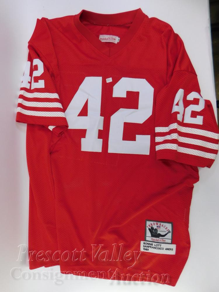 Mitchell & Ness Throwback 1989 Ronnie Lott 42 San Francisco 49ers Jersey Size 54